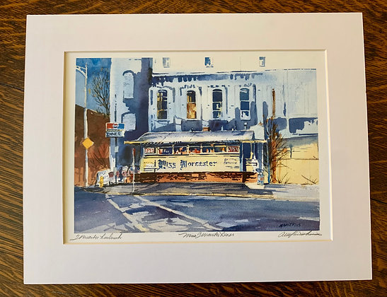 Miss Worcester Limited Edition Print by Mark Waitkus