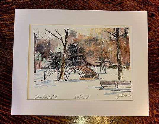 Elm Park Bridge Limited Edition Print by Mark Waitkus
