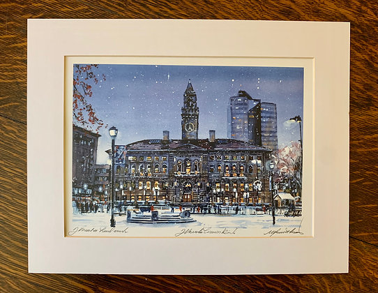 City Hall Limited Edition Print by Mark Waitkus