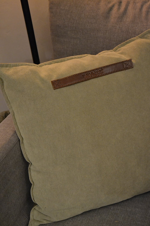 Cushion green corduroy