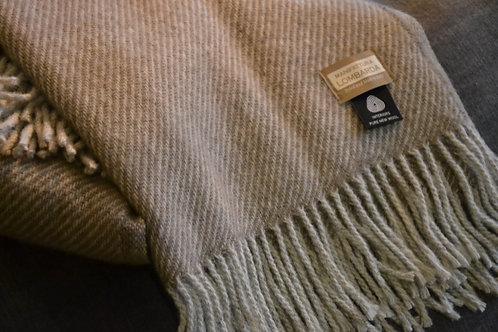 Lombarda plaid – 100% lamswol-Licht bruin