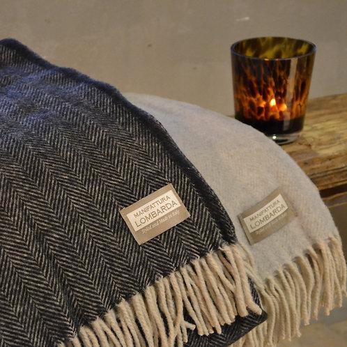 Lombarda plaid – Zwart-Visgraad