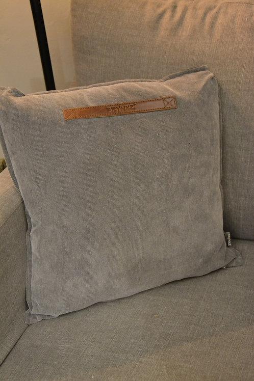 Cushion grey corduroy