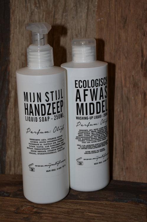 Handzeep parfum olijf 250 ml (witte fles)
