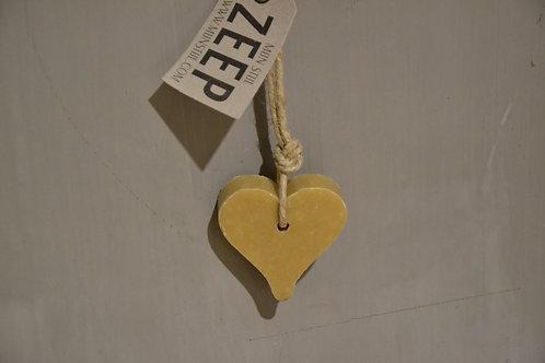 Hanger hart zeep geel