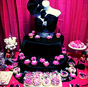 Barbie Birthday cupcake display