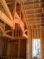 Timber Framing, Framing COntractor, Santa Cruz, Roof Cutting