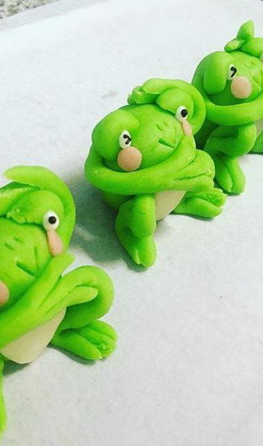 かんガエル_#patisserie #massepain #grenouille #マジパン #パティスリー #かえる