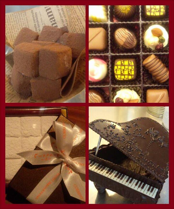 カレントのバレンタイン~♪_糸島素材を使ったトリュフ8種にくちどけトロリな生チョコ、糸島ゆずのホワイト生チョコ☆_チョコでピアノだって作っちゃうよー!全部たべれるよん。ご希望