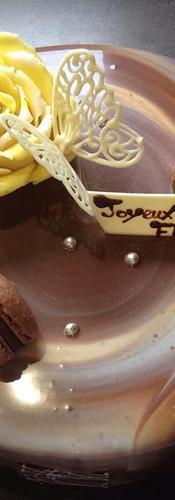 お隣さんのお誕生日に。_よろこんでくれるといいな。_J'ai fait gâteau d'anniversaire pour ma voisine _J'espère qu'elle va aimer ;)_#patisserie #gateaudanniversaire _#m