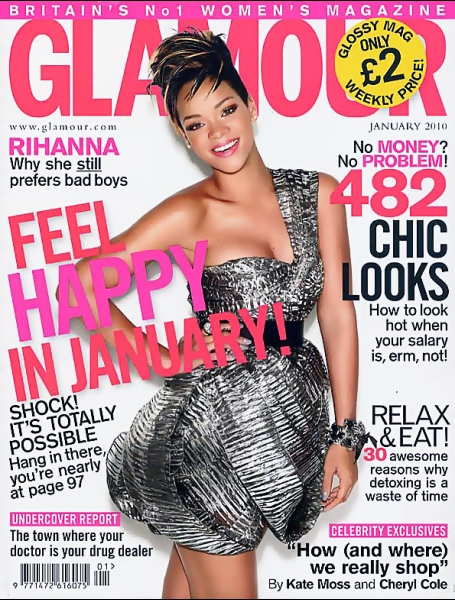 Glamour .UK Cover Rihanna.