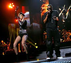 Rhianna with Jay Z NYC 2009.