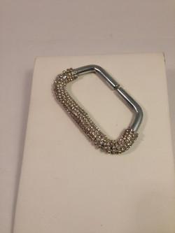 Bovver hand knuckleduster. Silver/crystal