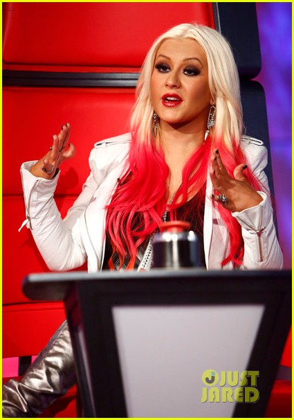 Christina Aguilera on The Voice.
