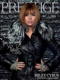Miley Cyrus . Prestige Magazine.