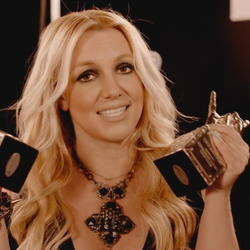Britney receiving VEVO award.