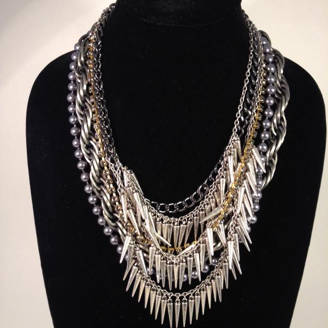 Spiky Fringe necklace