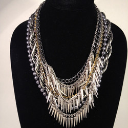 Spiky Fringe necklace