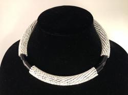 Circle of Life necklace. Black/gunmetal