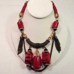 NE-TAOC2.Tiger coral/leather/Brass