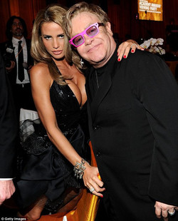 Katie Price .Elton John Oscar party