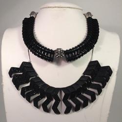 Clara Bow necklace & Josephine Baker necklaces shown