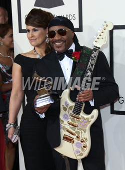 Ernie Isley and wife.Grammy Awards