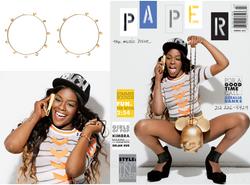 Azealia Banks. PAPER MAG COVER .