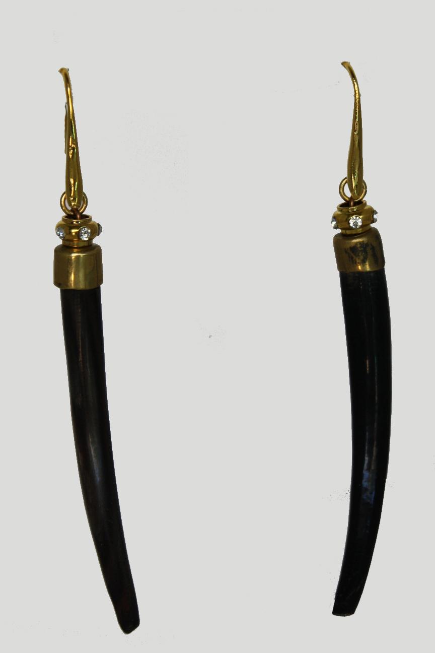 Slim Jim Horn earrings.