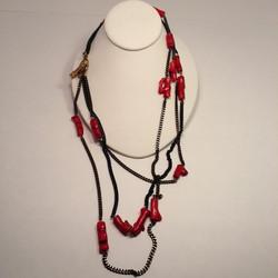 NE-1263. 3-Strand Coral necklace