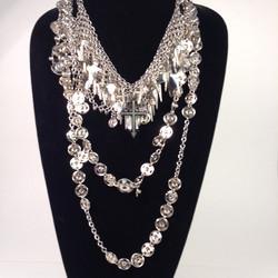 Crucify Me & Press stud necklaces shown