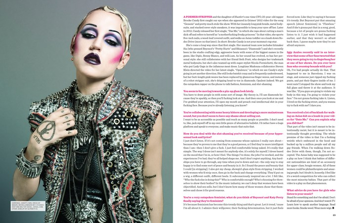 BUST Magazine. Brooke Candy.