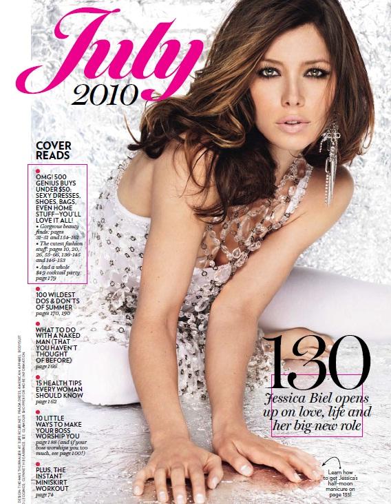 Glamour Magazine.Jessica Biel.