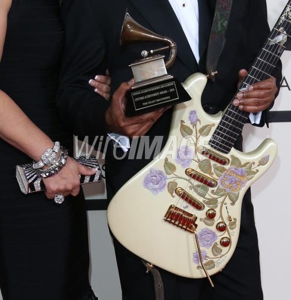 Ernie & Tracy Isley . 56th Grammys.