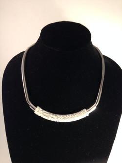 Tubeway Army necklace. Gunmetal