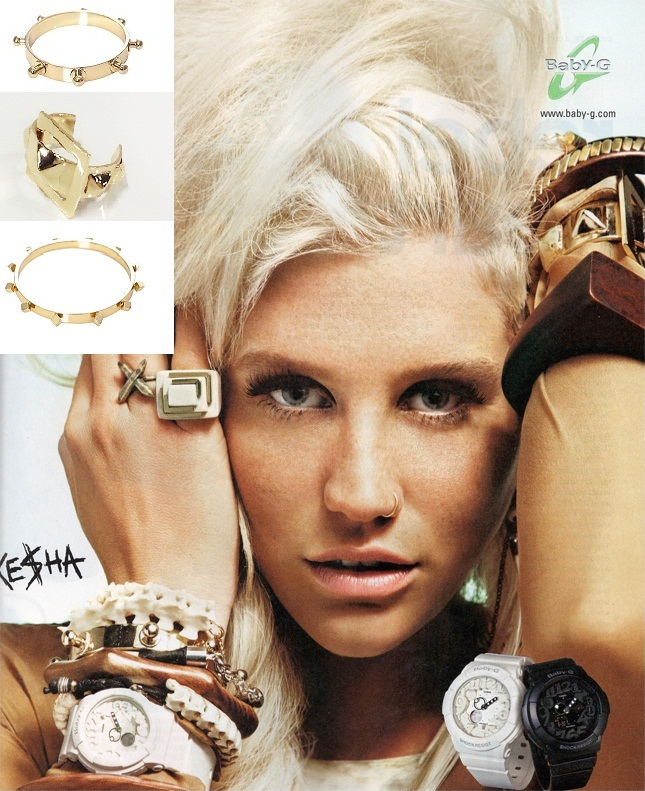 Kesha. Baby G watch campaign.