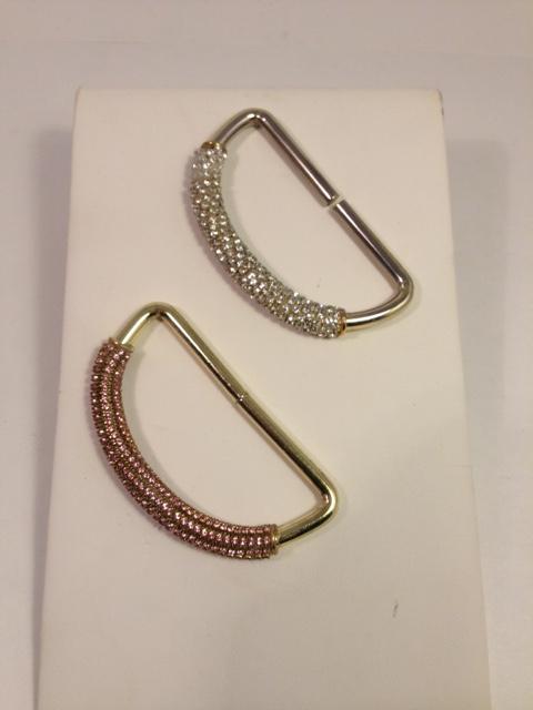 Bovver Girl Hand knuckleduster. Brass/crystal/baby pink shown