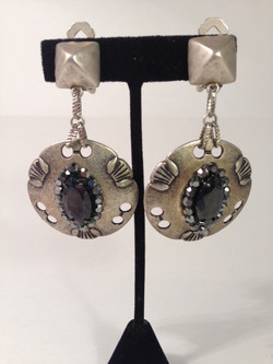 Sheild Me disc earrings