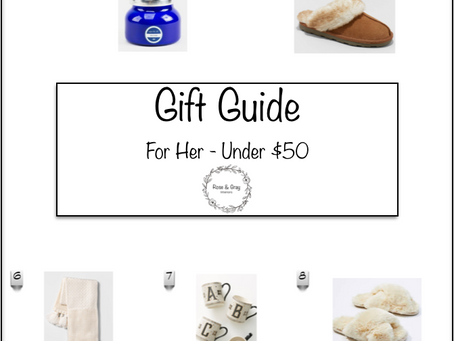 Gift Guide For Her - Under $50