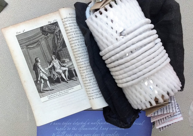 Frankenstein's Illuminated Lung Invention by Nigel Kerry