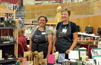 Marches Book Arts Group book artists at Livepool Book Art Fair
