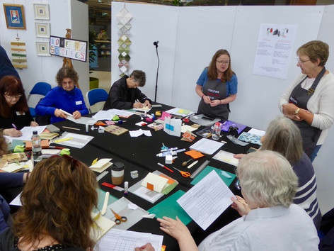 Leading workshop at turn the page Artists Book Fair
