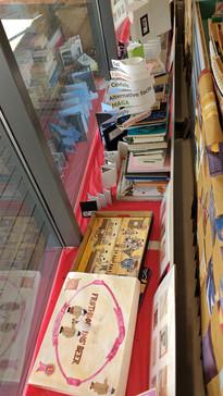 The Charity Bookshop window interior