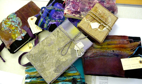Selection of textile notebooks