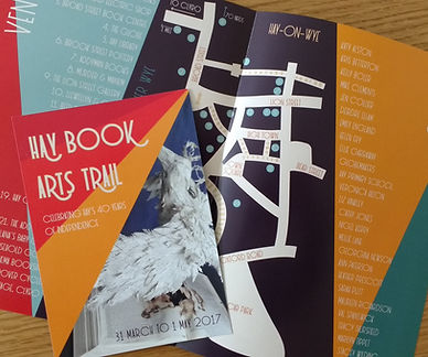 Marches Book Arts Group Hay Book Arts Trail Hay-on-Wye flyers designed by Emily England