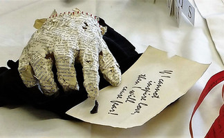 """""""The moving finger writes; and, having writ moves on..."""" by Jenny Collier"""