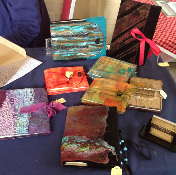Selection of notebooks at Much Wenlock Poetry Festival