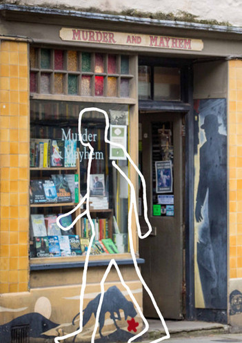 Chalky in Shopfront