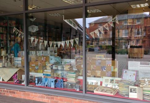 The Charity Bookshop window