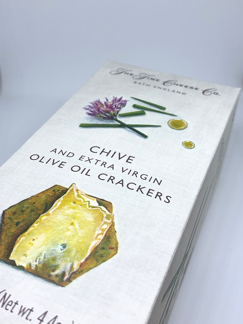 The Fine Cheese Co. Chive & Extra Virgin Olive Oil Crackers 125g